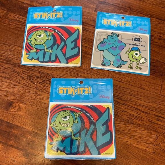 New Stik Itz Disney Monsters Inc Patches